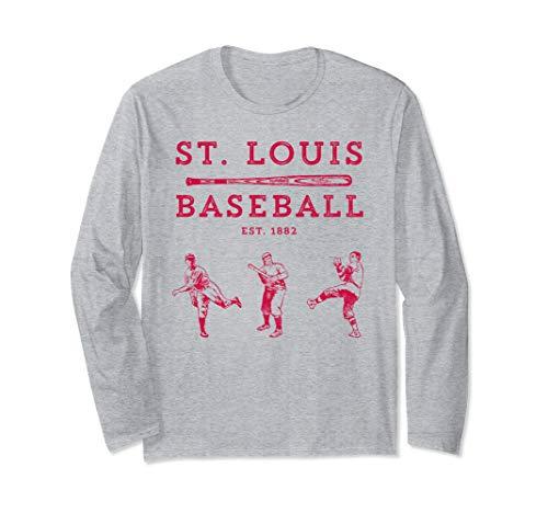 (Classic St. Louis Missouri Baseball Fan Retro Long Sleeve)