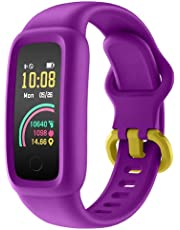 2021 Kids Fitness Tracker Watch for Boys Girls Age 5-12,BIGGERFIVE Vigor 2 Silicone Waterproof Activity Tracker, Family Account APP Step Calorie Counter Sleep Heart Rate Monitor for Child Teen