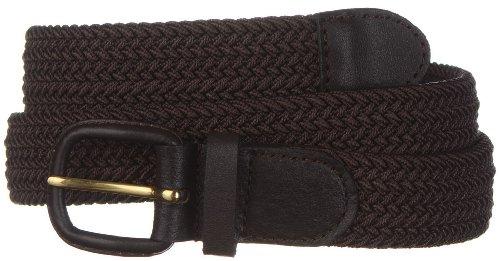 Strait City Trading Co men's stretch belt with leather covered buckle XL (Leather Covered Buckle Belt)