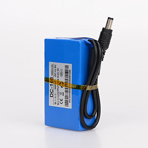 ABENIC DC 12V 1800mAh Super Rechargeable Protable Li-ion Lithium Battery DC168 Blue
