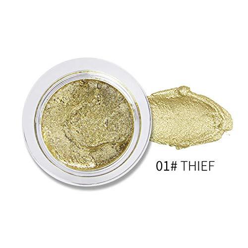 Hennta cosméticos Glitter Polvo Perla metálica de Alto Brillo en Polvo, Ligero y portátil, te Hacen más Seguro y Hermoso