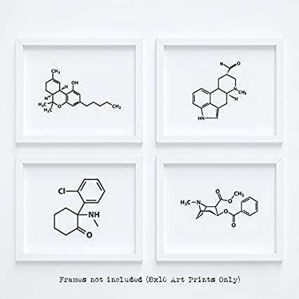 Clean Friendly Fun Molecule Drug Wall Art Home Decor