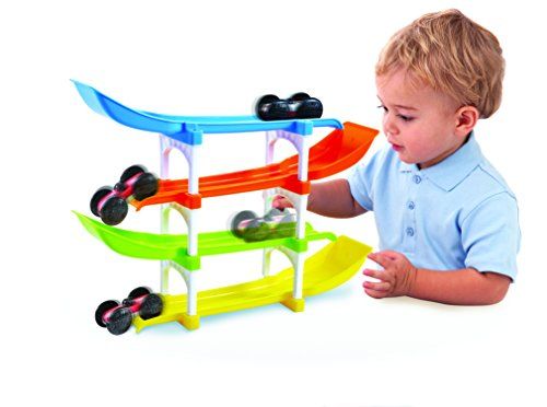 Flip Track - KidSource Flip and Go Racer - 4 Level Race Track and Ramp Car Toy for Toddlers Ages 2 Years Old and Up