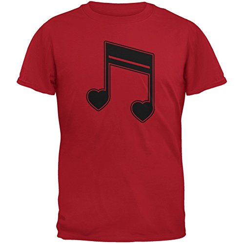16th Note Hearts Red Youth T-Shirt - Youth Small