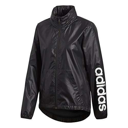 adidas Women's Linear Windbreaker Jacket, Black, X-Large by adidas (Image #8)