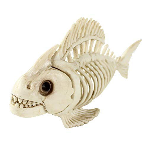 THEE Scary Animal Fish Bones Simulation Skeleton Party Halloween Decoration -