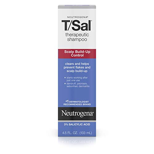 (Neutrogena T/SAL Therapeutic Shampoo for Scalp Build-Up Control with Salicylic Acid, Scalp Treatment for Dandruff, Scalp Psoriasis & Seborrheic Dermatitis Relief, 4.5 fl. oz)