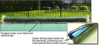 20' (Pool Size) Winter Cover for Solar Reel Cover # - Pool Winter Seal Cover
