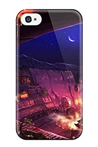 Awesome Design Animal Fish Moon Mugon Night Original Stars Tree Hard Case Cover For Iphone 4/4s