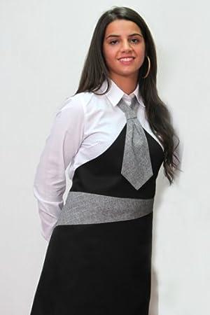 Delantal corbata paravanti algodón restaurante sirvienta Mujer ...