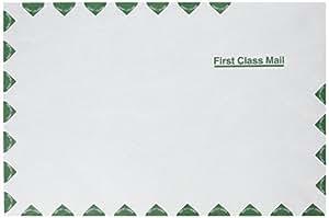 Quality Park R1670 Quality Park Tyvek Open End Envelopes, First Class, 10x15, White, 100/Box