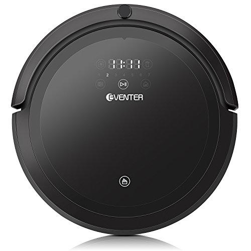 Automatic Robot Vacuum Pet Hair Cleaner with Mop, Self-Charging Robotic Vacuum Cleaner, UV and HEPA Style Filter for Pet Fur Hair and Allergens, Hardwood and Tile-Black (N-HK-RV608B-2)