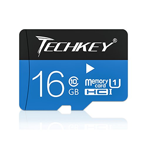 5X 16GB Memory Card, Techkey Raspbian High Speed Class 10 UHS-1 Mini Flash Memory Card for Raspberry Pi, Samsung Galaxy S8, Garmin nüvi, Dash Cam, GOPRO, Cemeras, Cell Phones, Kindle Fire, Tablets, PC by TECHKEY