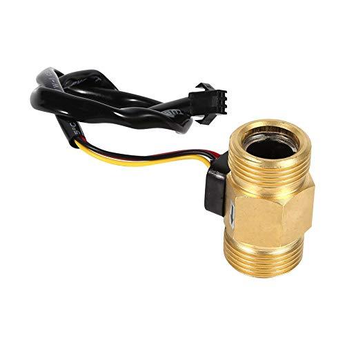 Sensor de Flujo de Agua G3/4' Liquid de Efecto Hall Sensor de Flujo de Agua Interruptor Caudalímetro Líquido Medidor 2-45L...