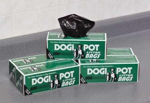 DOGIPOT 1402-30 30 Roll Case, Litter Pick up Bag Rolls, 200 Bags per Roll (6000 Bags)