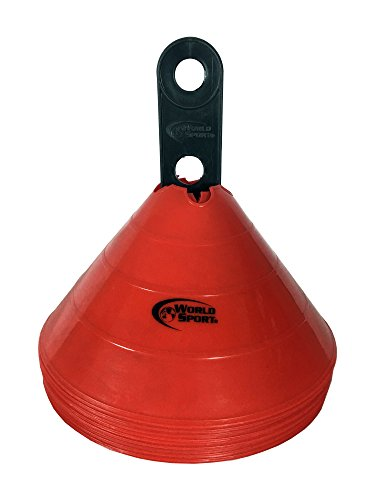 World Sport Large Disc Cones Red by World Sport