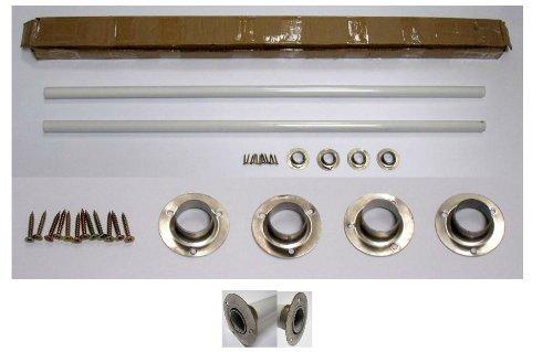 Kit Installation Undermount Two (ALFI brand ABUMSB Undermount Farm Sink Installation Kit with 39-Inch White Metal Rods)