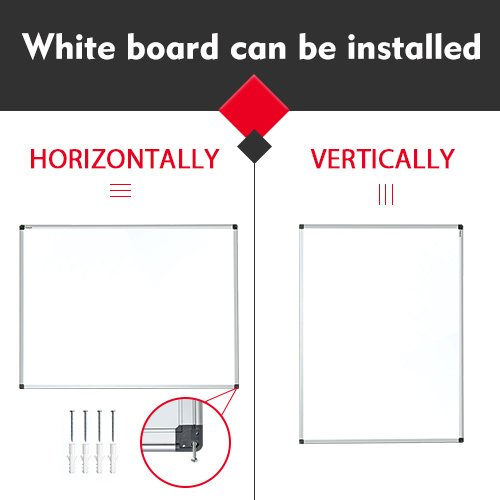 Magnetic White Board 48 x 36 Dry Erase Board Wall Mounted by maxtek (Image #2)
