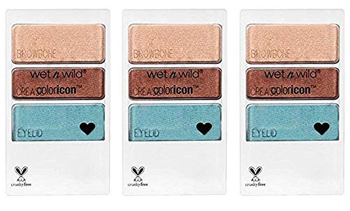 Wet N Wild Limited Edition Coloricon Eyeshadow Palette, 34889 Will You Marina Me, 0.12 oz (Pack of 3))