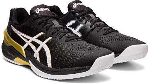 ASICS Men's Sky Elite FF Volleyball Shoes, Black/White, 11 M US