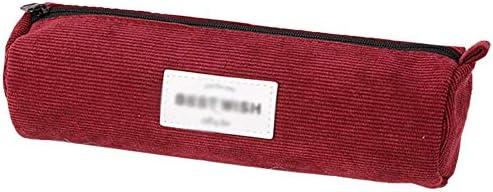 Pelloy20*6.5 * 6.5 CM Estuche de pana rojo de gran capacidad, estuche de lona para lápices, estuche de gran capacidad, estuche para estudiantes, papelería, gran capacidad, color rosso: Amazon.es: Oficina y papelería