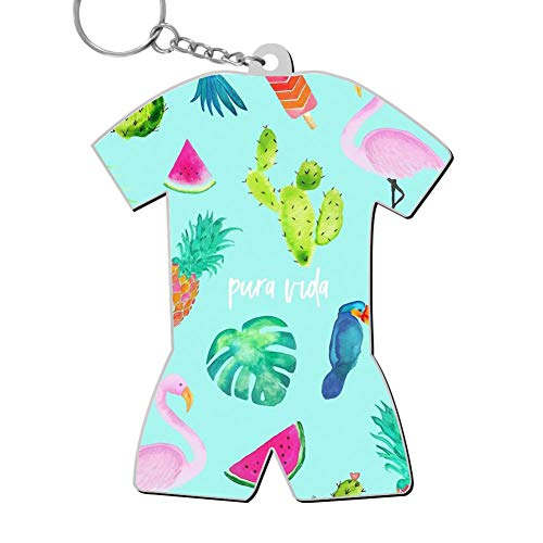 okkeyring Zinc Alloy Car Business Key Ring,Print Flamingo,Best Gift for Friends Boys Girls