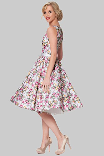 Sexyher Vintage Style 1950's Rockabilly Swing Floral Evening Dress - RBJW1405(US14)