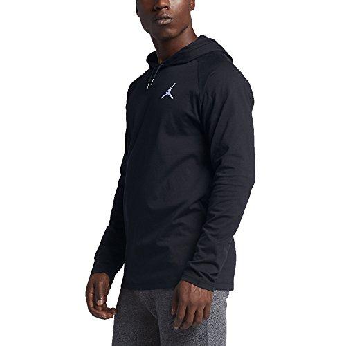Nike Mens Jordan 23 True Hoodie Black/White XL