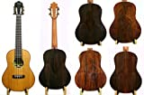 Alulu Handmade Tenor Ukulele Solid Brazilian Rosewood Back and Side Board with Solid Cedar Front Board. Classical Head. Including One Hard Case.