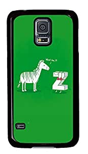 Samsung S5 design cases Zebra Funny Picturess PC Black Custom Samsung Galaxy S5 Case Cover