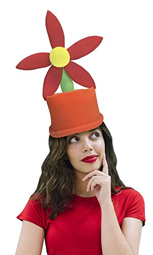 Price comparison product image Funky Fresh Flower Pot Adult Foam Costume Hat - One Size
