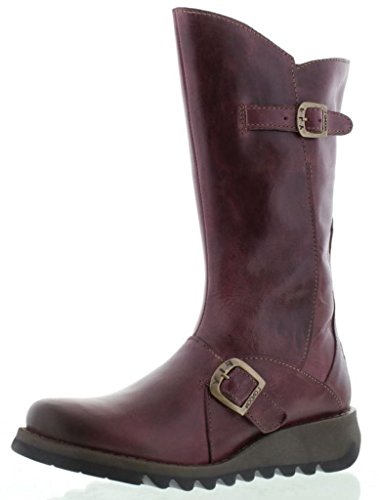 Leather Boots London Womens 2 Mid Purple Mes Calf Fly 7avBPFP