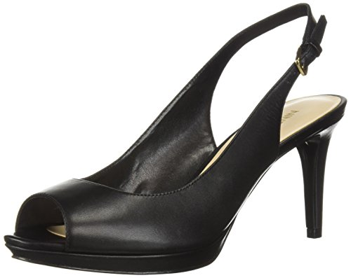 (Nine West Women's Gabrielle Pump Black Leather 8 M US)