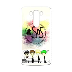 Zyhome LG G3 5SOS 5 Seconds of Summer Cartoon Cute Case Cover for LG G3 (Laser Technology) by runtopwell