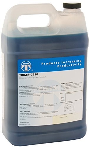 TRIM Cutting & Grinding Fluids C210/1 Synthetic Coolant, 1 gal Jug (Band Saw Fluid Cutting)