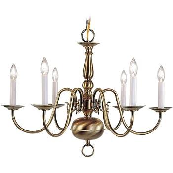 Progress lighting p4346 10 5 light americana chandelier with livex lighting 5006 01 williamsburg 6 light antique brass chandelier aloadofball Images