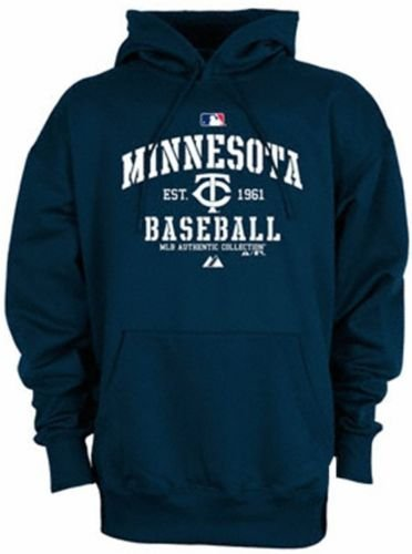 Majestic Minnesota Twins Authentic Collection Therma Base Navy Hoodie Big Sizes (5XL)