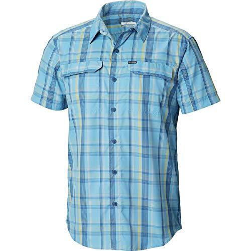 Columbia Men's Silver Ridge 2.0 Multi Plaid Short Sleeve Shirt, Mustard Plaid, Large