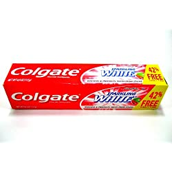 Colgate Sparkling White Cinnamint 4.0 Ounces (2 Pack) Toothpaste