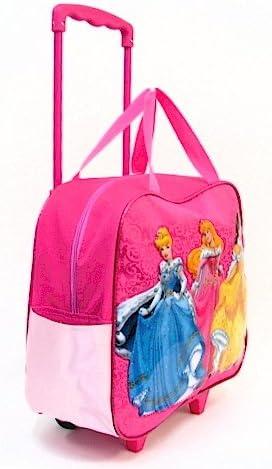 Disney Princess Girls Pink Rolling Luggage//Travel Bag Kids Pilot Case