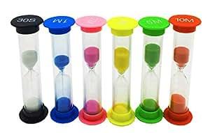 Cute Colorful Mini reloj de arena Sandglass 6pcs diferentes tiempo 30Segundo ----- 10minutos
