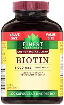 Biotin 5000 Mcg Tabs by Finest Nutrition,300ct, 3 Pack