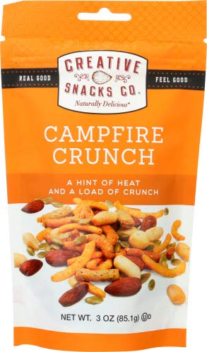 Mix Creative - Creative Snacks Campfire Crunch Trail Mix Snack Bags, 6 Individual Packs, 3 Ounces Each, Resealable