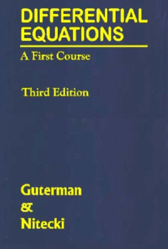 Differential Equations A First Course