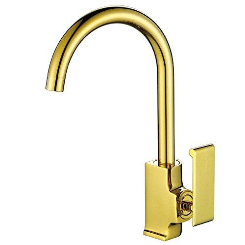 NewBorn Faucet Wasserhähne Warmes und Kaltes Wasser Größe Qualität der Kupfer Gold Küche Kochtöpfe Kaltes Wasser Leitungswasser Küche Leitungswasser
