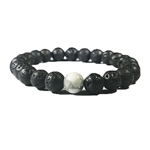 Price comparison product image White Howlite Lava Diffuser Bracelet