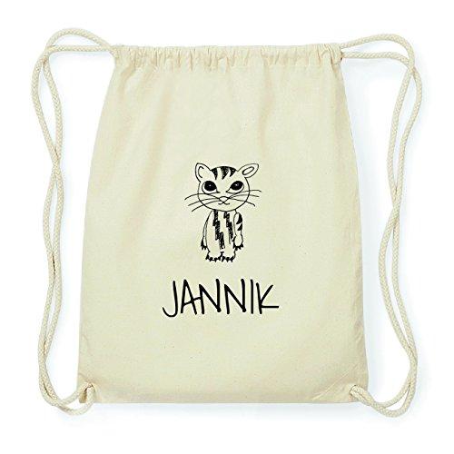 JOllipets JANNIK Hipster Turnbeutel Tasche Rucksack aus Baumwolle Design: Katze