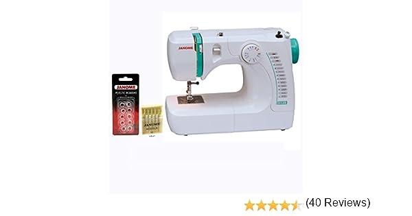 Janome 3128 máquina de coser con pie de 1/4 pulgadas gratis y ...