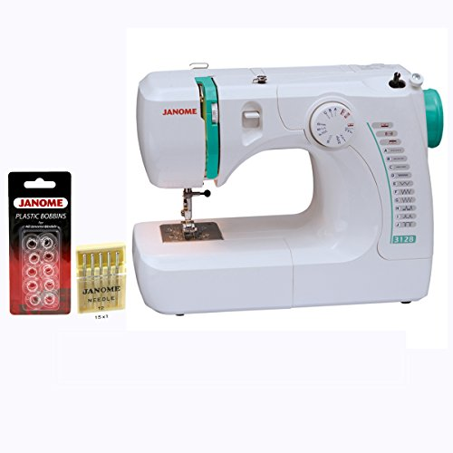 Janome 3128 Sewing Machine with Free 1/4 Inch Foot & FREE BONUS supplier:sewingmachinesforless by Janome