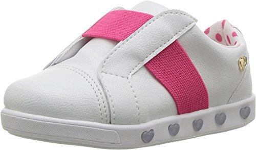 Powder Pink Kids Shoes (Pampili Baby Girl's Sneaker Luz 165002 (Toddler/Little Kid) White/Pink)
